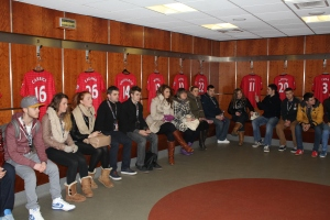 Changing room of Manchester United