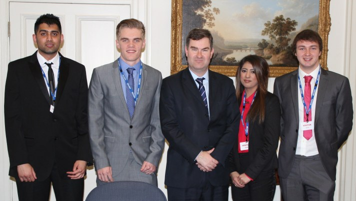 OTS story students with Treasure Minister David Gauke